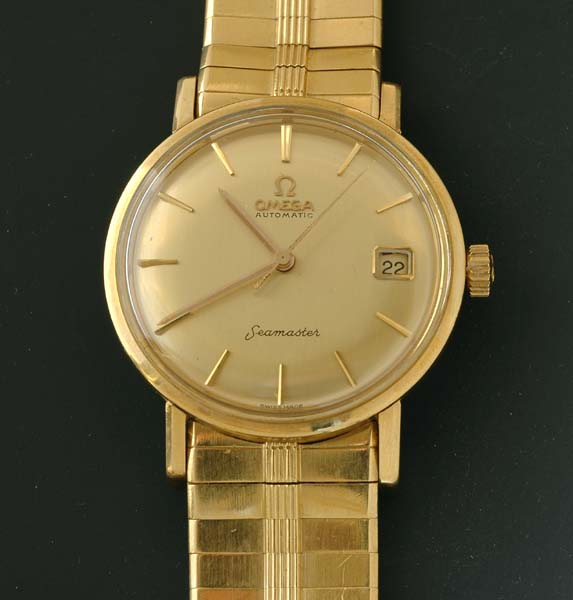 a gents omega seamaster gold watches jewellery