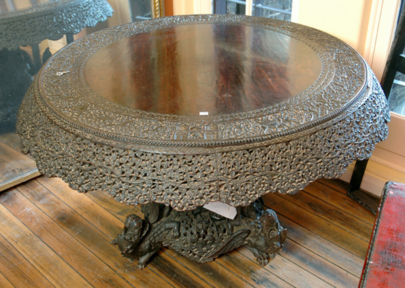 An Anglo Indian Rosewood Centre Decorative Arts