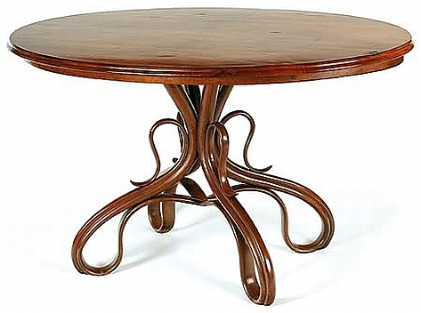 Thonet oval bentwood table c 20th century and for Table thonet