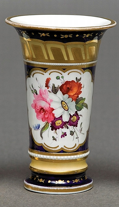 A Spode Spill Vase With Cobalt English Continental Porcelain