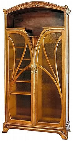 art nouveau two door bookcase 20th century and traditional design shapiro auctioneers. Black Bedroom Furniture Sets. Home Design Ideas