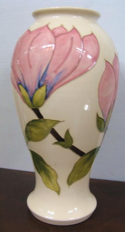 Moorcroft Magnolia Pattern Vase Special Sale Including Colonial