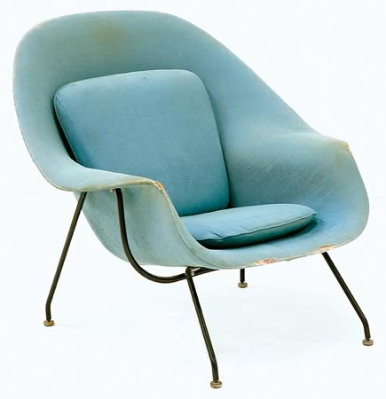 Eero saarinen womb chair 20th century design and vintage posters shapiro auctioneers - Vintage womb chair for sale ...