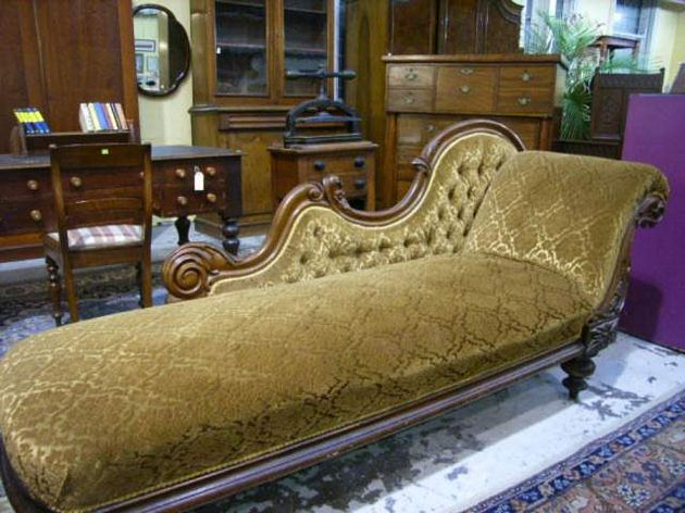 Chaise lounge mid 19th century evening estate auction for 19th century chaise lounge
