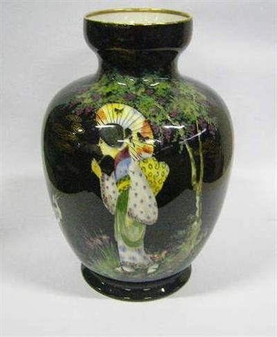 Unusual Wilkinson Vase With Monthly Antiques Fine Art Auction
