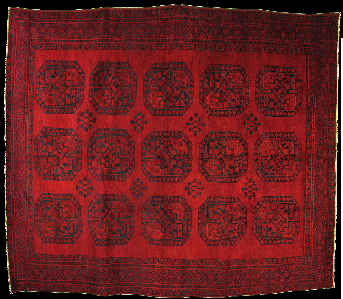 An Old Afghan Turkoman Rug From The Best Of Florence