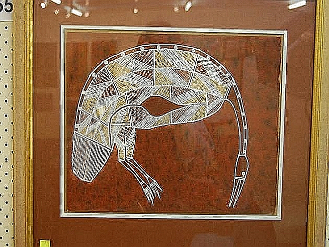 Artist unknown x ray painting aboriginal art for X ray painting