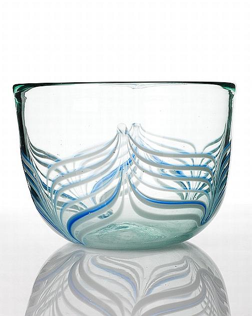 Julio Santos Glass Bowl With Australian Studio