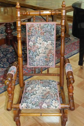 A Dexter Rocking Chair Floral Decorative Arts Auction