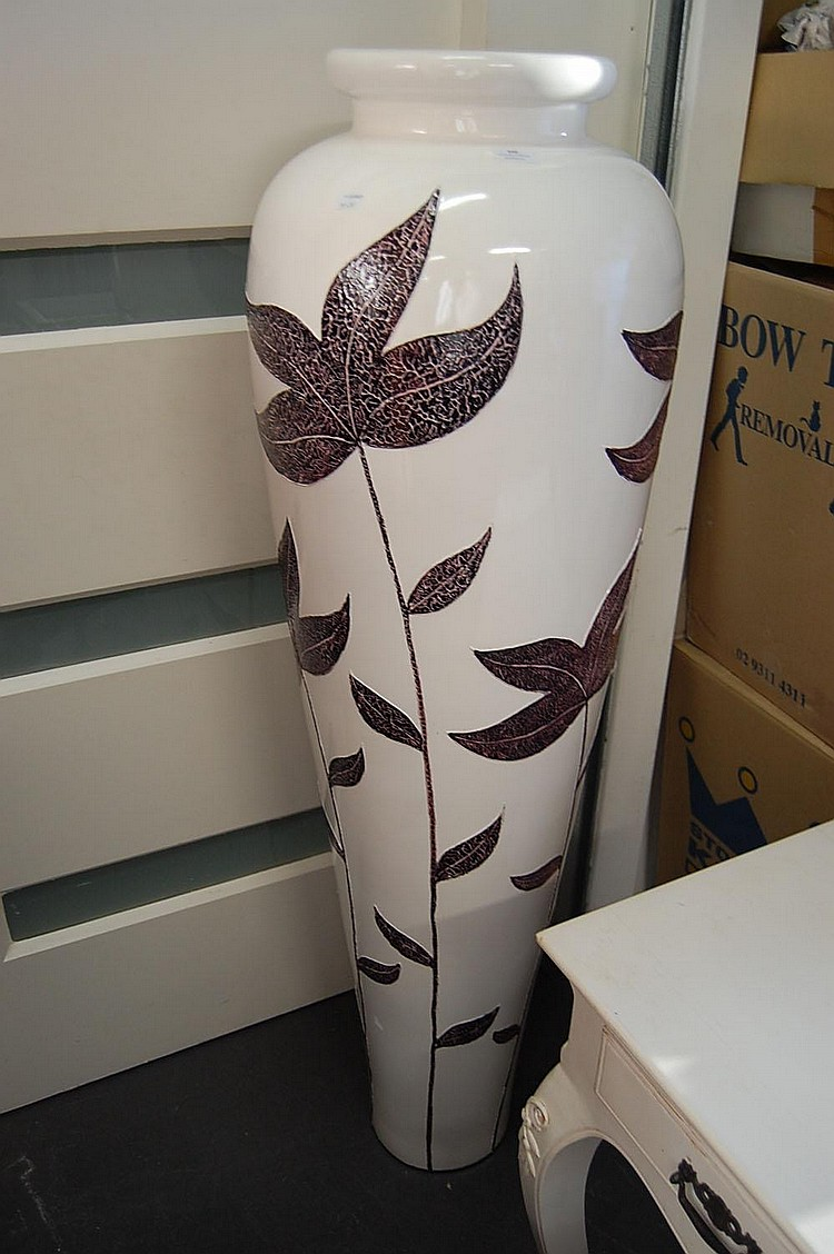 Very Large Modern Floor Vase Antiques Decorative Arts