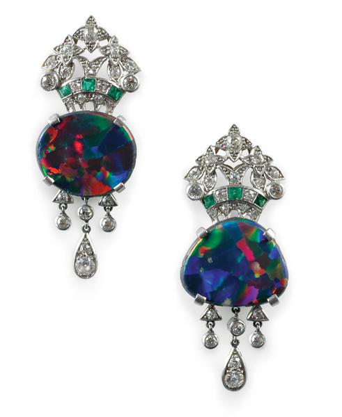 art deco opal jewelry black opal direct