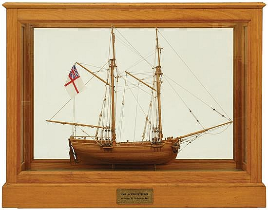 A Detailed Model Of A Port The National Trust Victoria Collection Of Historic Maritime
