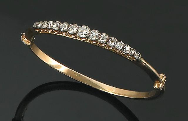 252df44b35f An antique diamond bangle