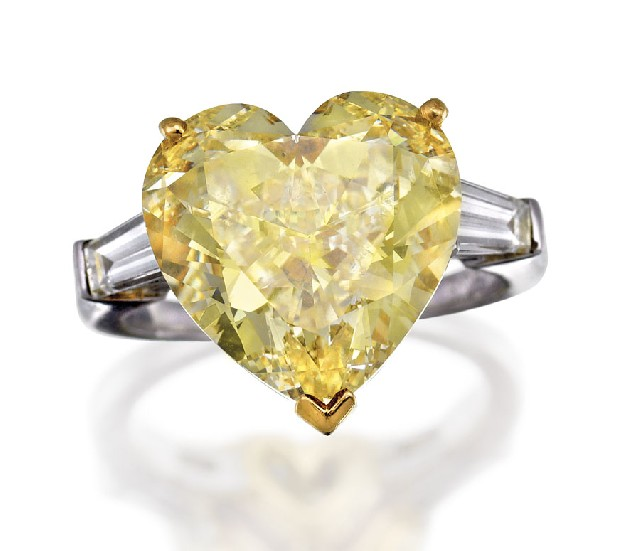 Fancy Yellow Diamond Ring Jewels Sotheby S