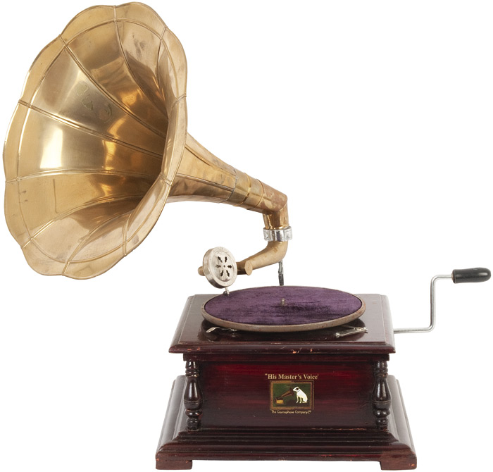 His Masters Voice gramophone,…