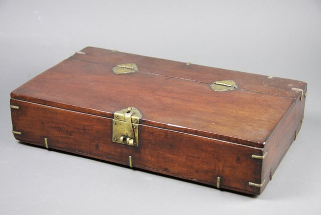 Decorative Wooden Boxes Australia : A korean brass bound wooden box fine decorative arts