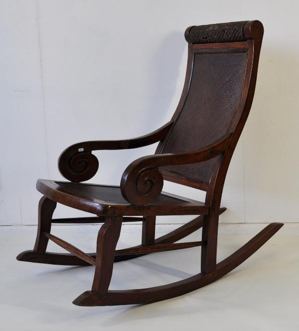 Awesome Chinese Rocking Chair Woven Fine Decorative Arts Caraccident5 Cool Chair Designs And Ideas Caraccident5Info