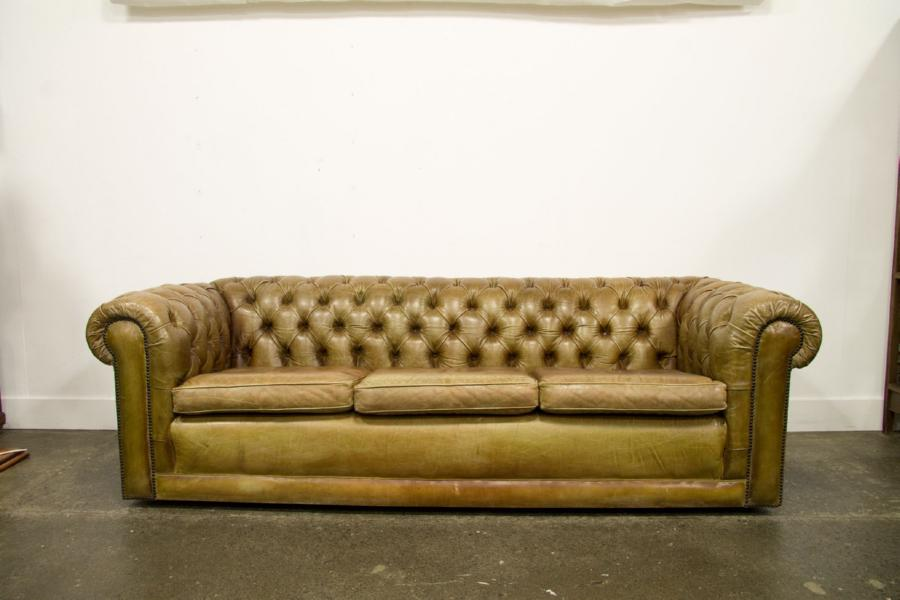 A tan leather buttonback u2026 Interiors Antiques& Decorative Arts Mossgreen Webb's (formerly