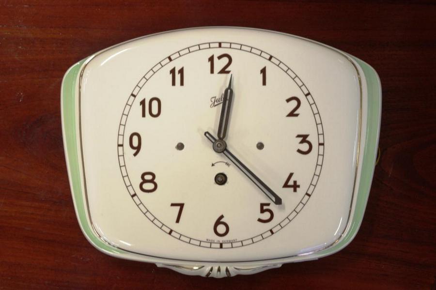 Art Deco Wall Clock Juba Brand Antiques Jewellery Art