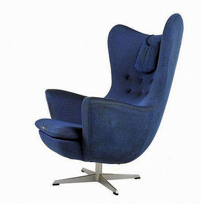 A Wingback Swivel Chair C 1970 Modern Design Leonard