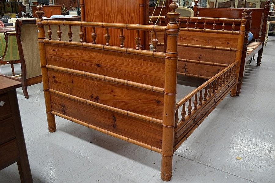 Antique French Faux Bamboo Bed Furniture Antique