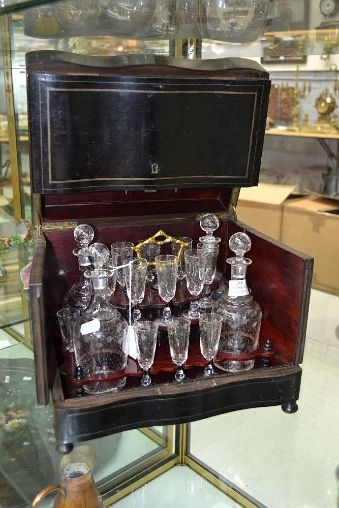 Antique French Liquor Box With Antiques Collectables