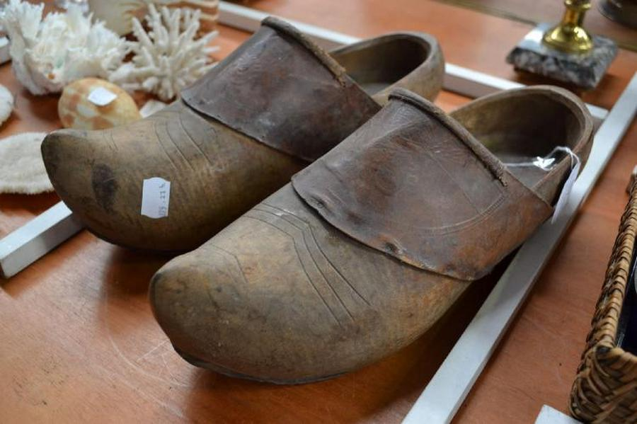 4b2beb6ed28c5 Pair of French wooden clogs… - Antiques, Decorative Art ...
