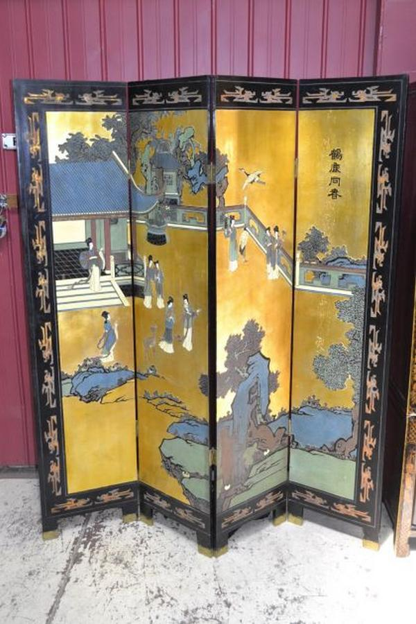 Four fold oriental extensively oriental south east for Oriental furniture adelaide