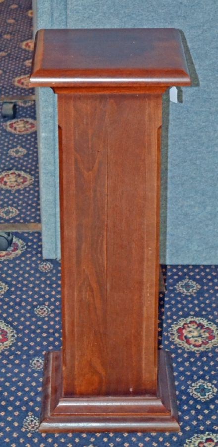 A Jarrah Plinth Display Stand Fine Art Collectables Furniture Mckenzies Auctioneers