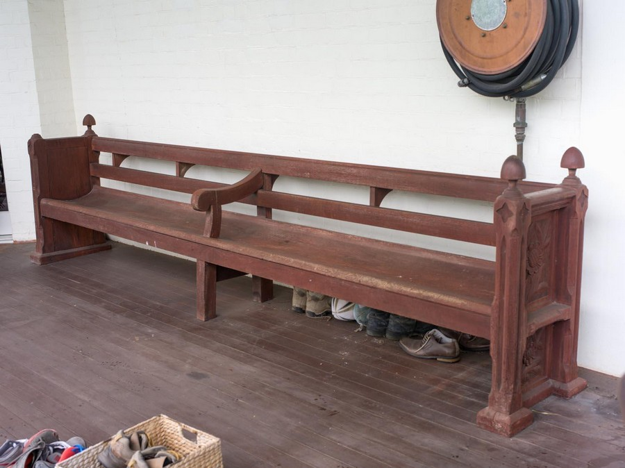A Queensland Maple Pew With The Contents Of Hurlton Mossgreen Auctions Antiques Reporter