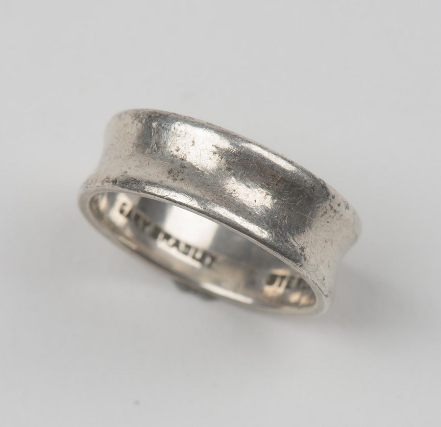 a sterling silver band ring the estate of