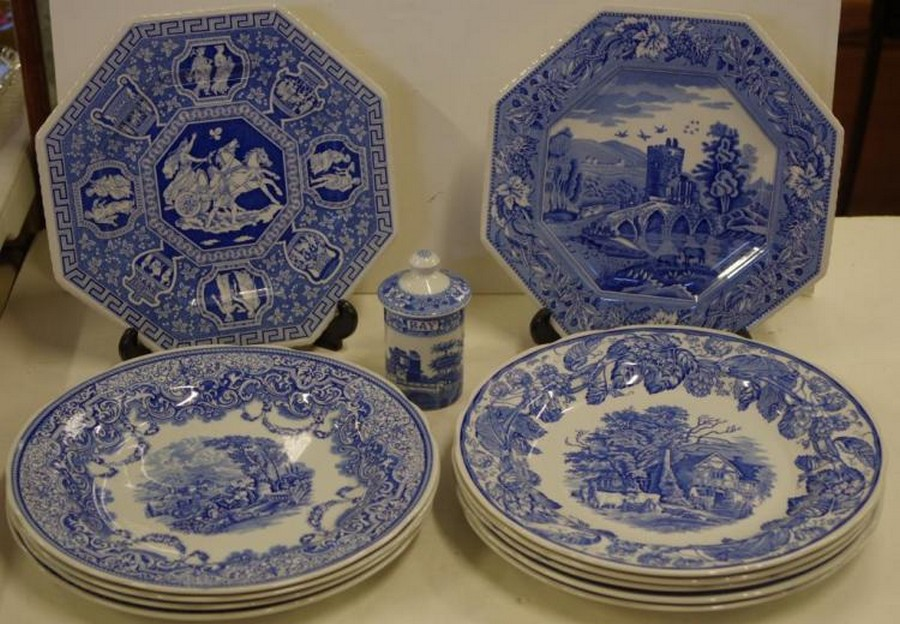 Spode Blue Room Collection Plates