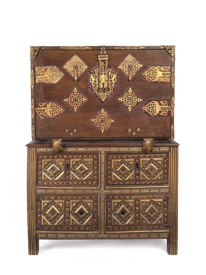 A Spanish Vargueno Chest 17th International Decorative Arts