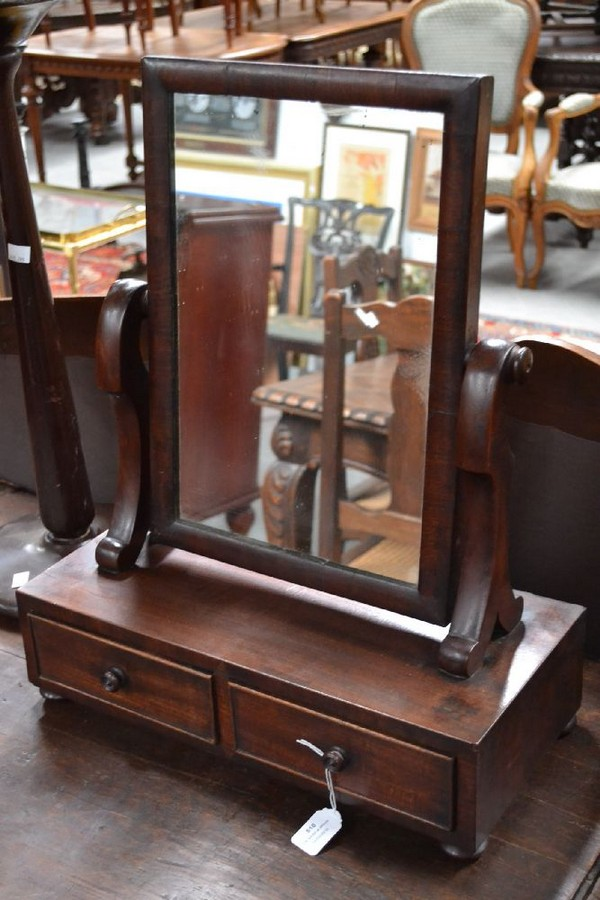 Georgian mahogany toilet mirror antiques collectables for Mirror 60cm wide