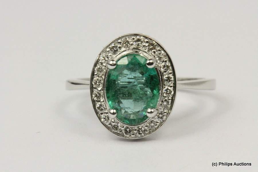 an emerald and cluster modern and antique