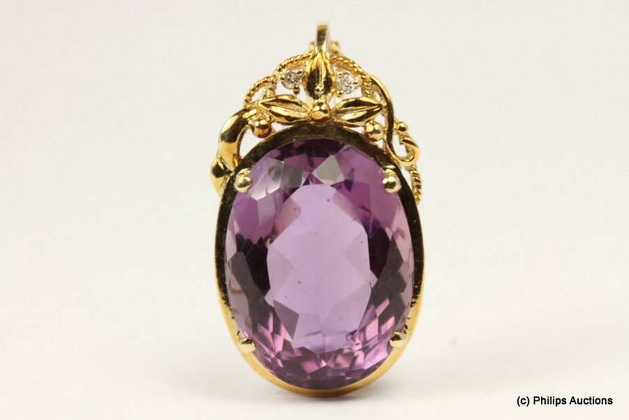 an amethyst and set modern and antique