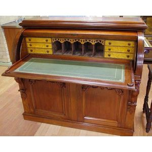 Desks   Cutler, Roll Top And Tambour Top   Furniture   Barsby Auctions    Antiques Reporter